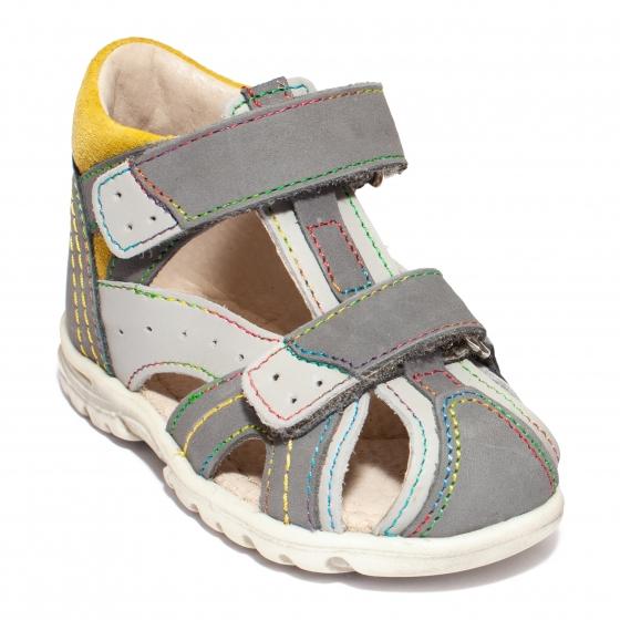 Sandalute copii inalte pe glezna hokide 311 gri galben 18-25