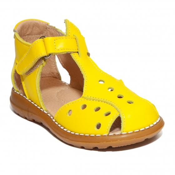 Sandalute copii piele 345 galben 18-25