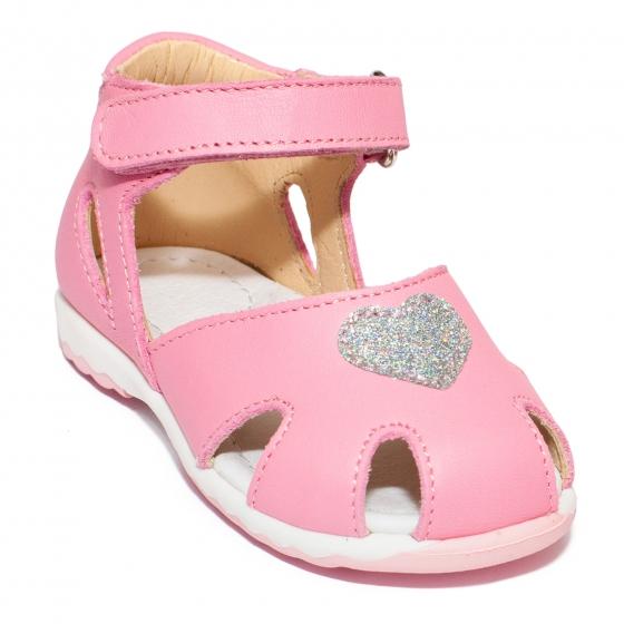 Sandalute fete avus piele 745 fuxia 18-26