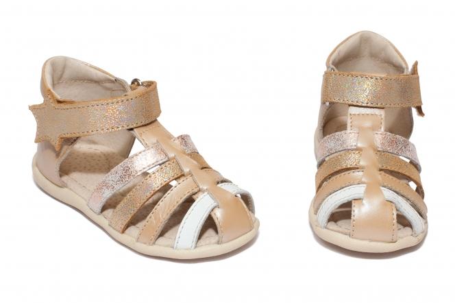 Sandalute fete hokide 406 bej lux 18-24