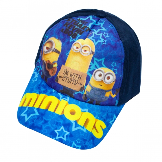 Sapca baieti Minions 3228 albastru galben 3ani-8ani