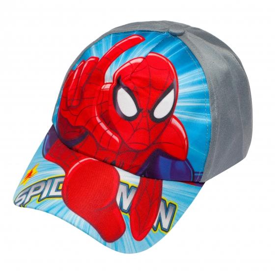 Sapca baieti Spiderman 3228 gri albastru 3ani-8ani