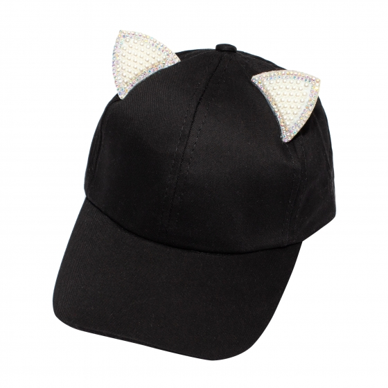 Sapca fete pisica 3222 negru 3ani-7ani
