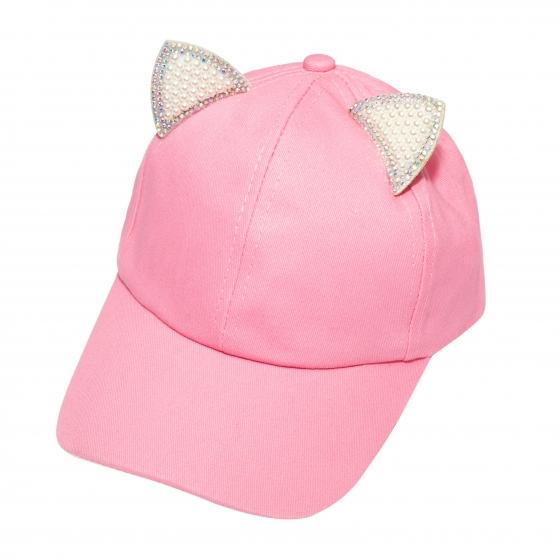 Sapca fete pisica 3222 roz 3ani-7ani