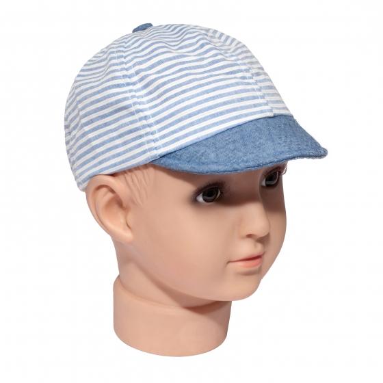 Sapcuta copii cu dungi 3224 alb albastru 6luni-18luni
