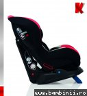 Scaun auto copii Kiddo Evora negru rosu
