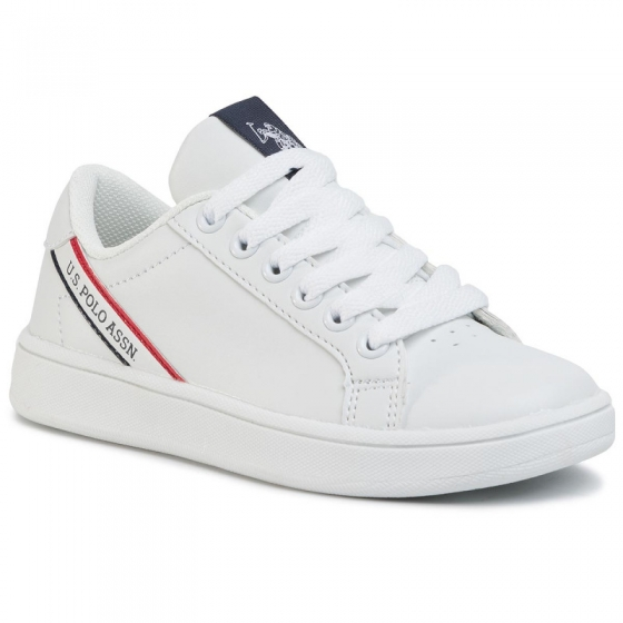 Sneakers copii U.S. POLO ASSN Adrian alb 26-40