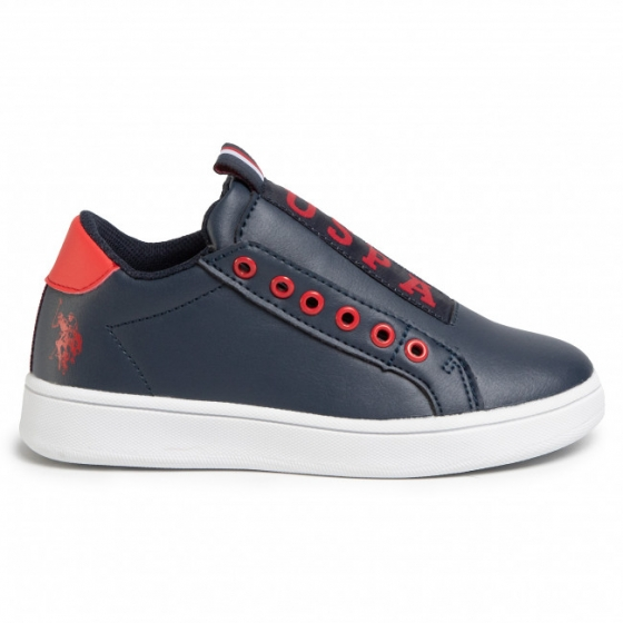 Sneakers copii U.S. POLO ASSN Asher blu rosu 26-40