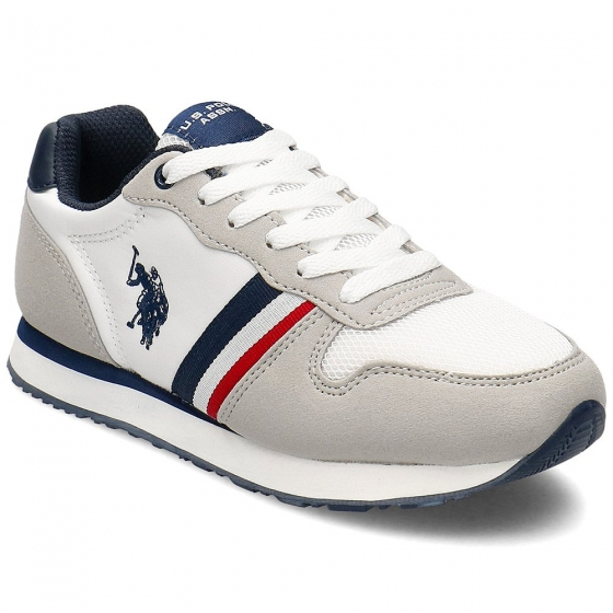 Sneakers copii U.S. POLO ASSN Sand alb 26-40