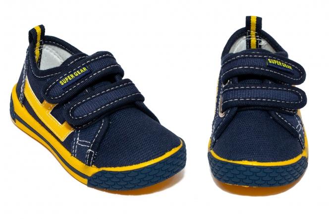 Tenisi baieti textil 9859 albastru galben 20-31