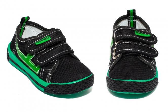 Tenisi baieti textil 9859 negru verde 20-31