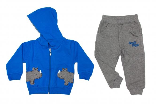 Treninguri baieti rino 1851 albastru gri 74-98cm