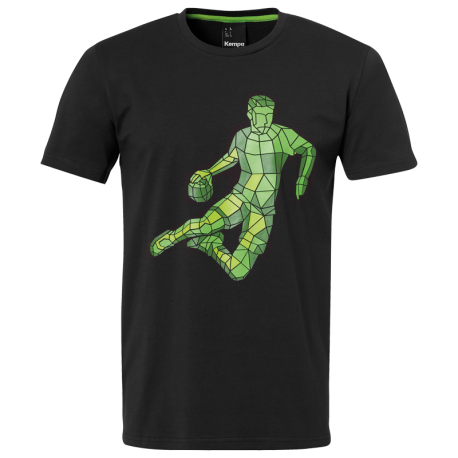 Tricou Kempa Polygon player 2019 negru 116-3XL