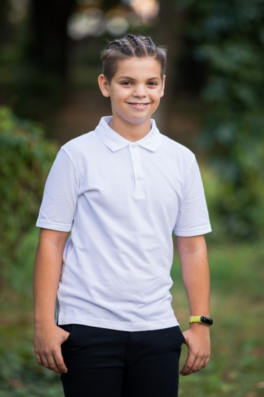 Tricouri polo copii 327 alb 4-14ani