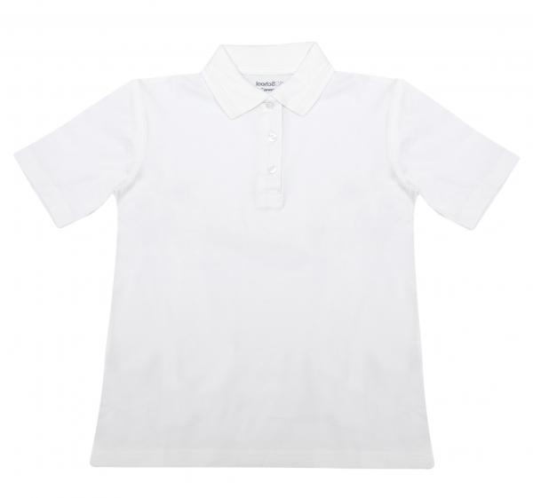 Tricouri polo copii maneca scurta 327 alb 4-14ani