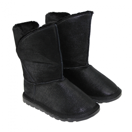 Ugg-uri copii din piele Pj Shoes Bari negru 27-36