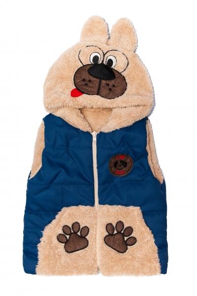 Veste copii de iarna ursulet 2547 albastru 6luni-4ani