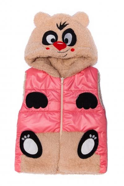 Veste copii de iarna ursulet 2547 roz 6luni-4ani