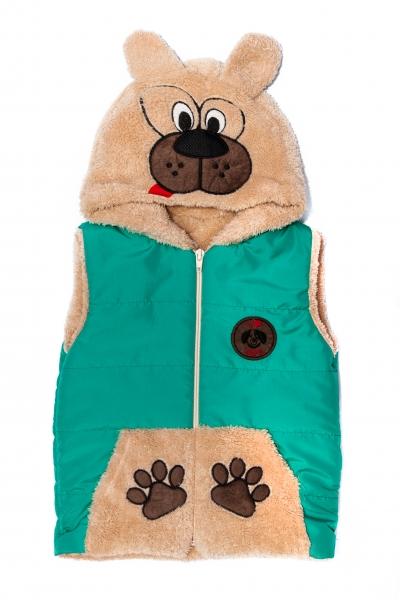 Veste copii de iarna ursulet 2547 turcoaz 6luni-4ani