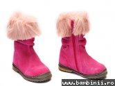 Cizme fete Pj Shoes Lili roz franjuri