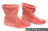 Cizme copii perforate Pj Shoes Isabel corai 31-38