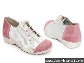 Pantofi copii 533 roz+alb perforat