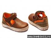 Pantofi copii piele Tobiax maro