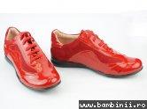 Pantofi fete 3212 rosu lac