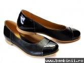 Pantofi de dama din piele adi 45 negru+lac
