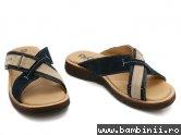 Papuci copii piele D&G junior blu