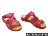 Papuci piele copii 70 rosu